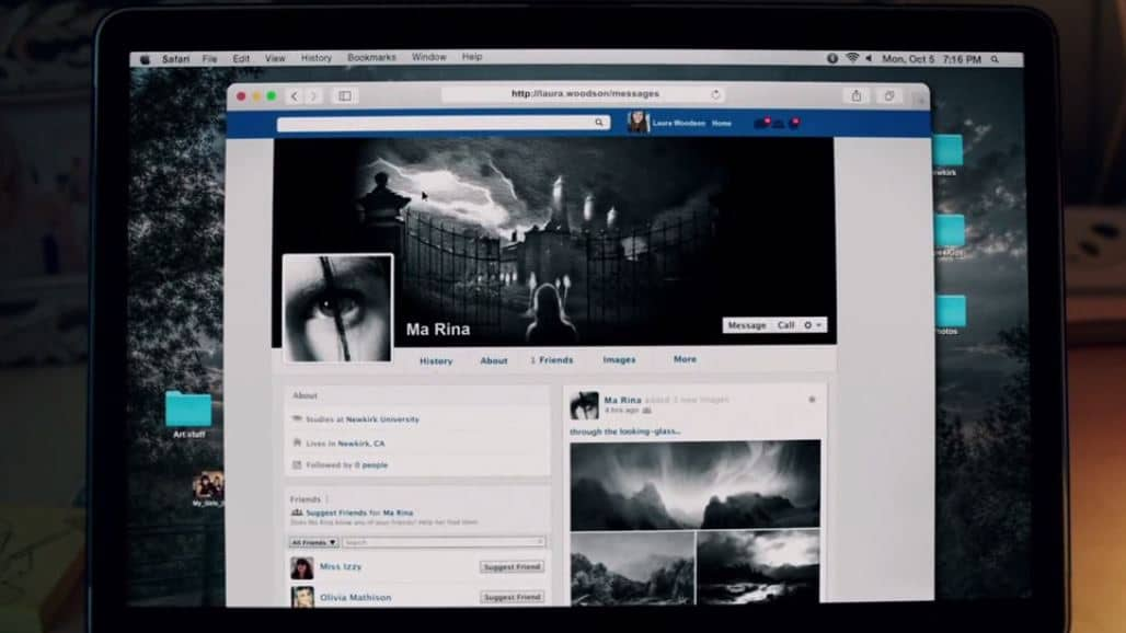 Friend Request (2016) screenshot