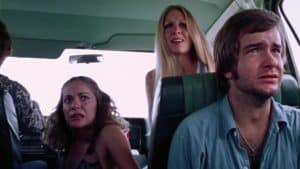 The Texas Chainsaw Massacre 1974. The family in the car looks terrified.