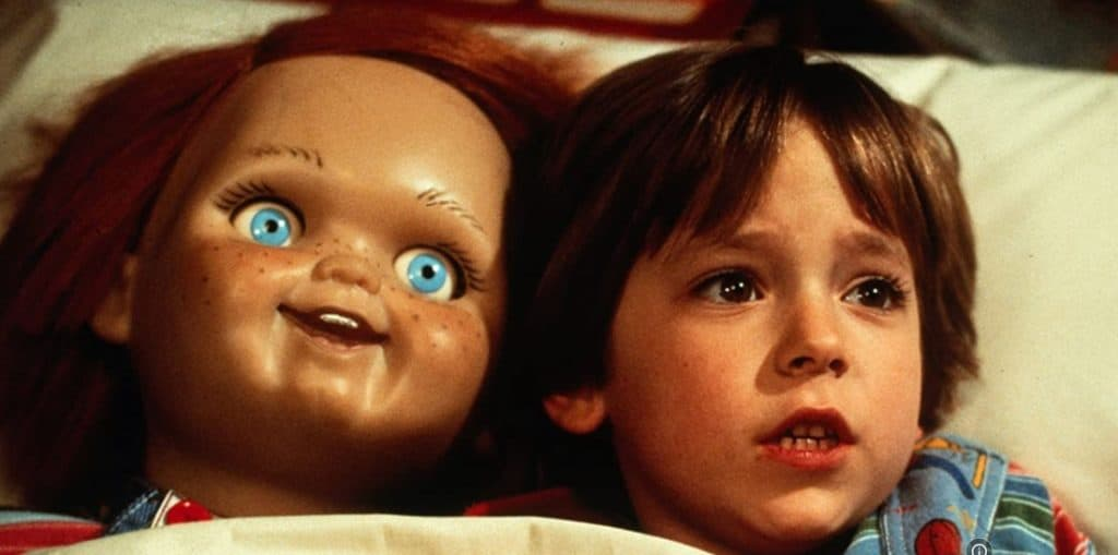 Chucky And Andy (Alex Vincent) In Child's Play (1988) Movie Screenshot